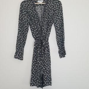 Anthropologie Lotus Midi Wrap Dress